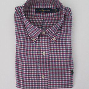 Ralph Lauren LS Plaid Classic Fit Shirt Large NWT